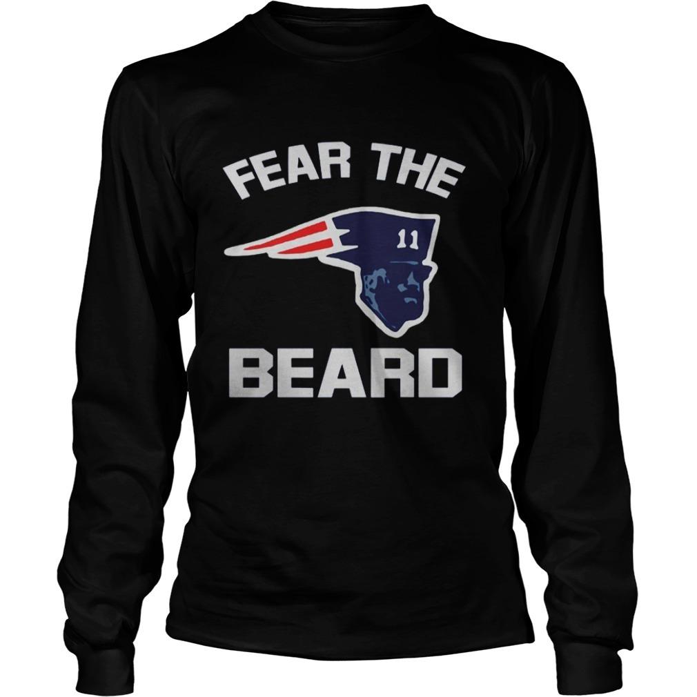 New England Patriots Fear The Beard Longsleeve Tee