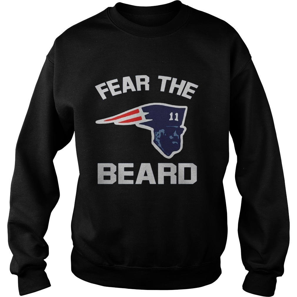 New England Patriots Fear The Beard SweaterNew England Patriots Fear The Beard Sweater