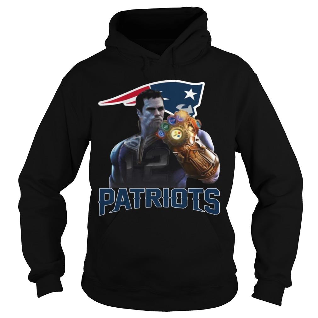 Patriots Tom Brady Infinity Gauntlet Hoodie