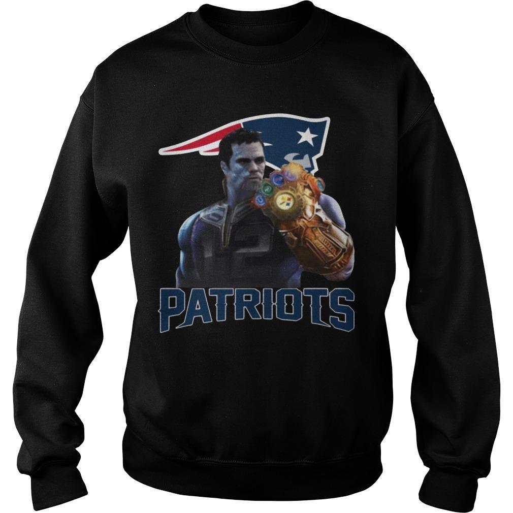 Patriots Tom Brady Infinity Gauntlet Sweater