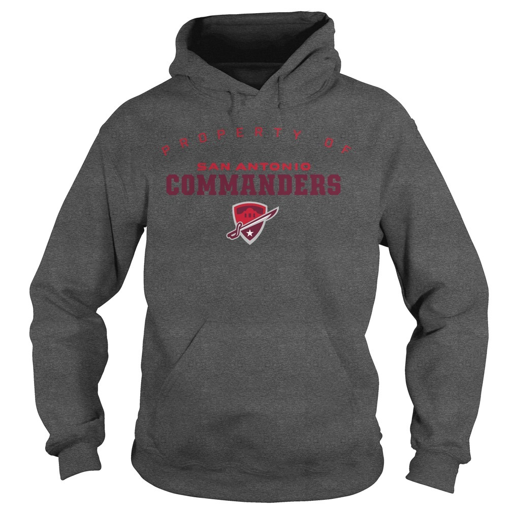 Property Of San Antonio Commanders Hoodie