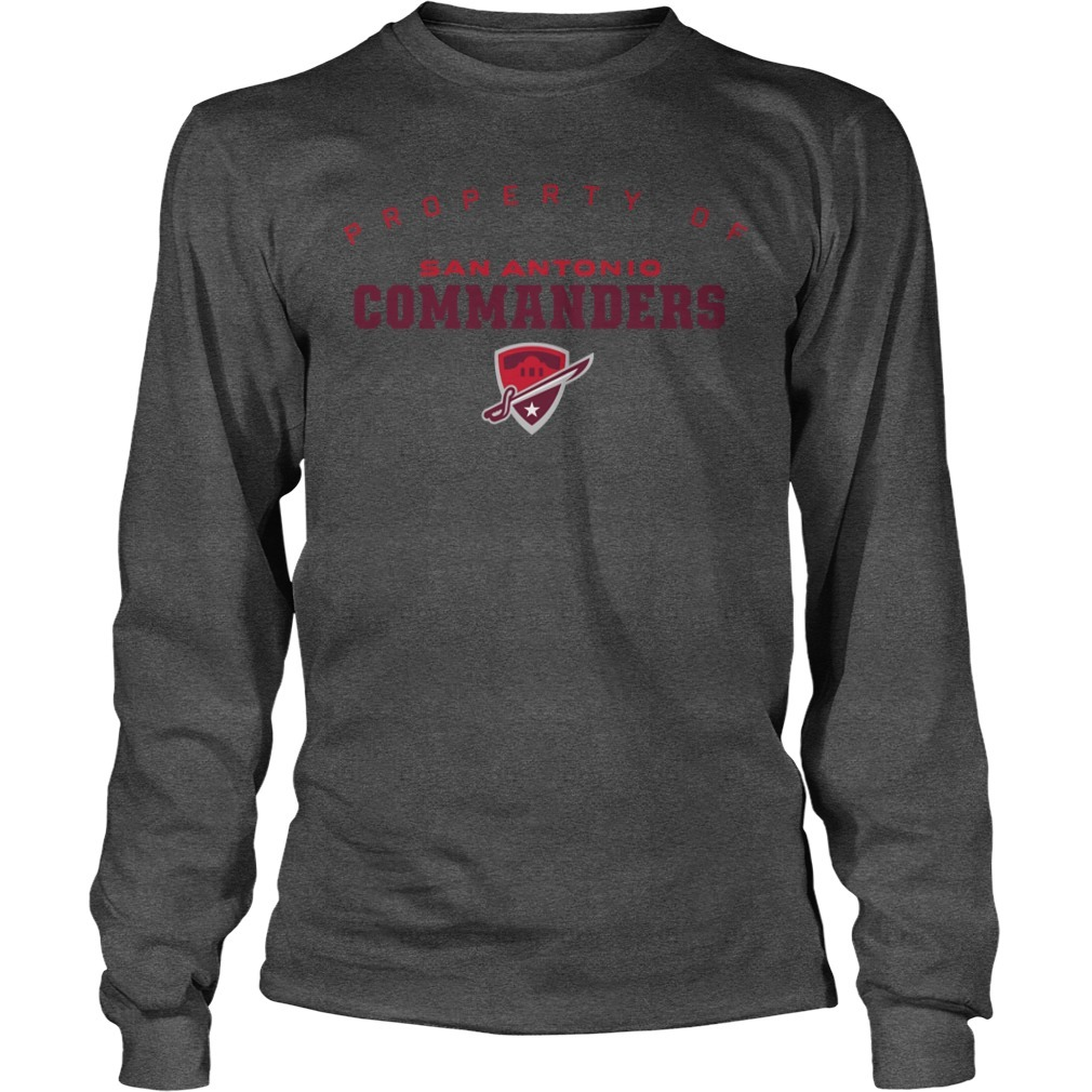 Property Of San Antonio Commanders Longsleeve Tee