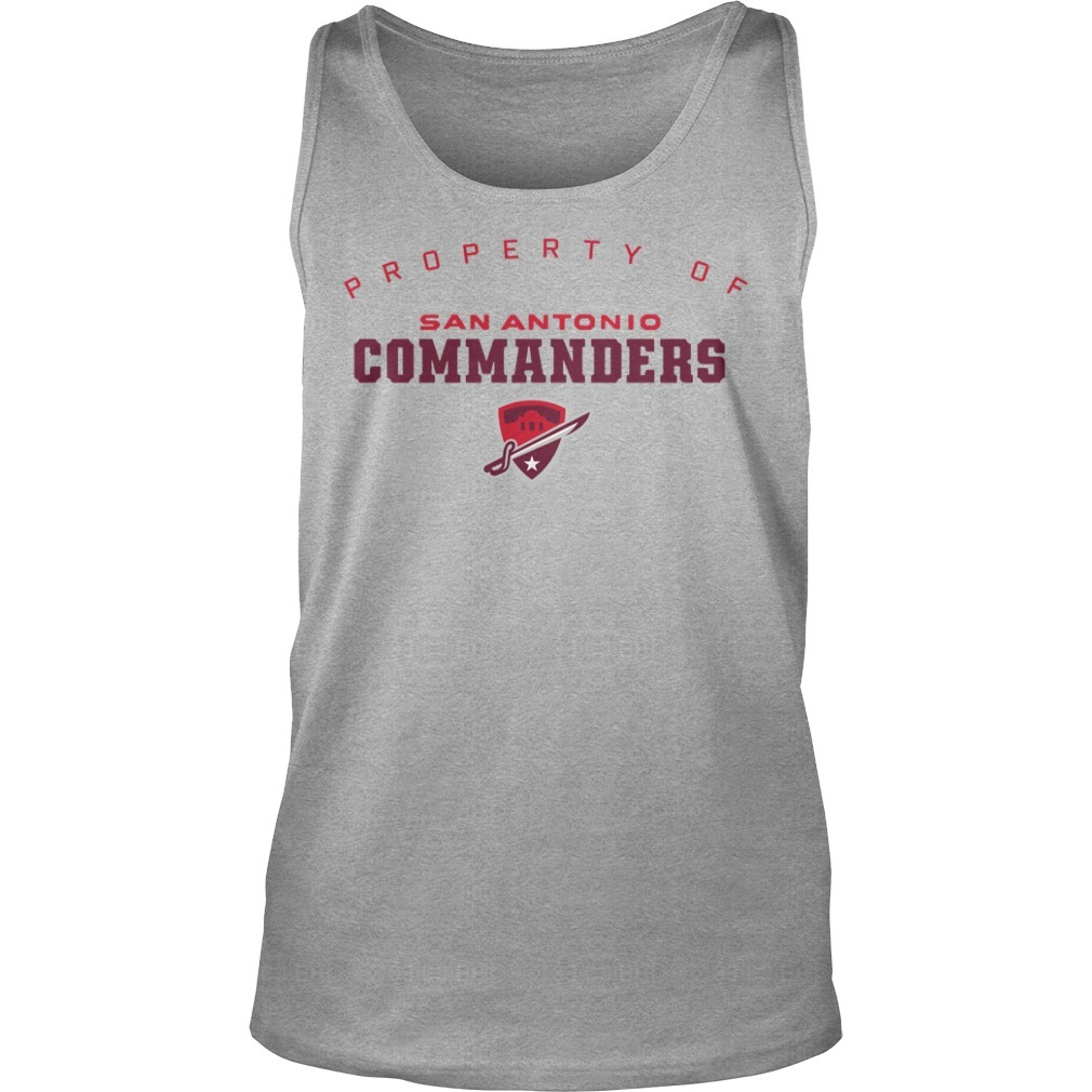 Property Of San Antonio Commanders Tank Top