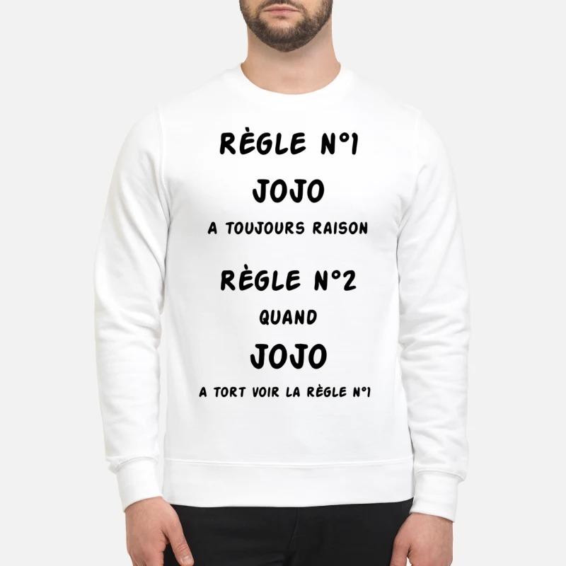 Règle N1 Jojo A Toujours Raison Règle N2 Quano Jojo A Tort Voir La Règle N1 Sweater
