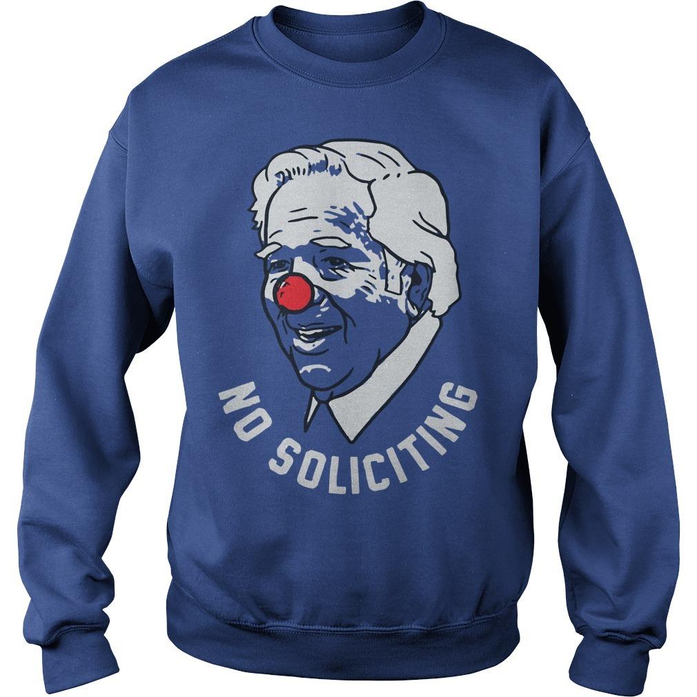 Robert Kraft No Soliciting Clown Sweater