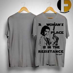 Rouge One A Woman's Place Is In The Resistance Indigo Legend Shirt