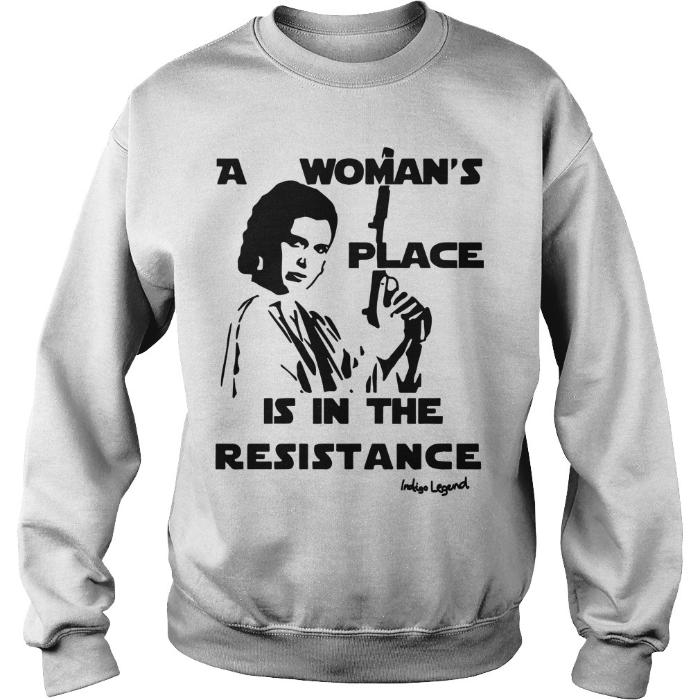 Rouge One A Woman's Place Is In The Resistance Indigo Legend Sweater