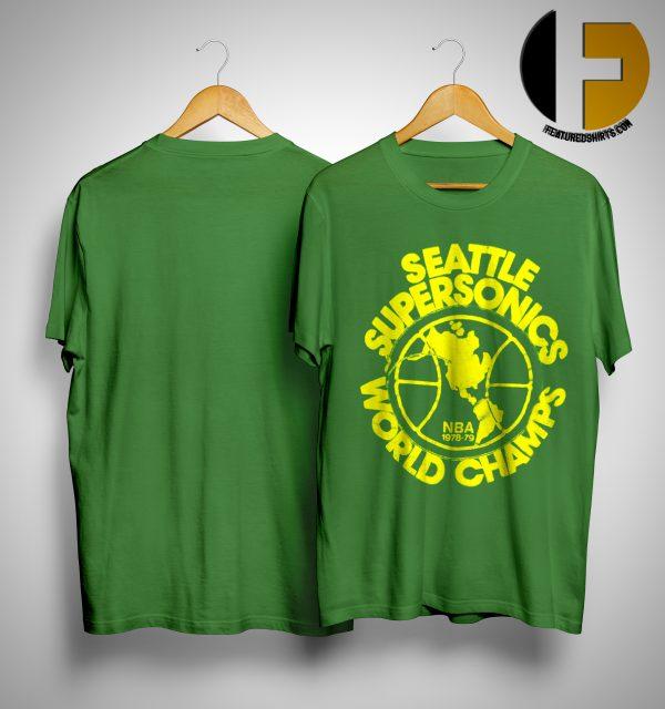 Seattle Supersonics World Champs Nba 1978 79 Shirt