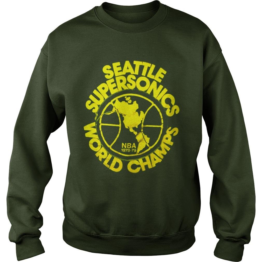Seattle Supersonics World Champs Nba 1978 79 Sweater