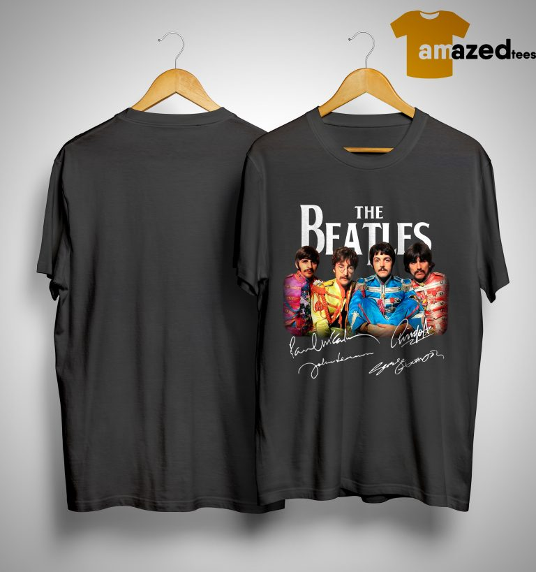 Sgt Pepper's Lonely Hearts Club Band The Beatles Signature Shirt