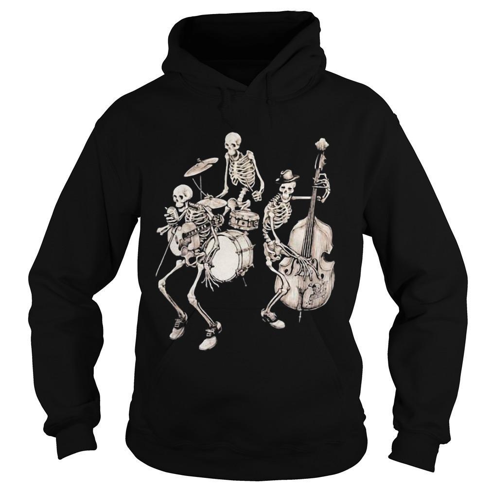 Skull Band Music Hoodie