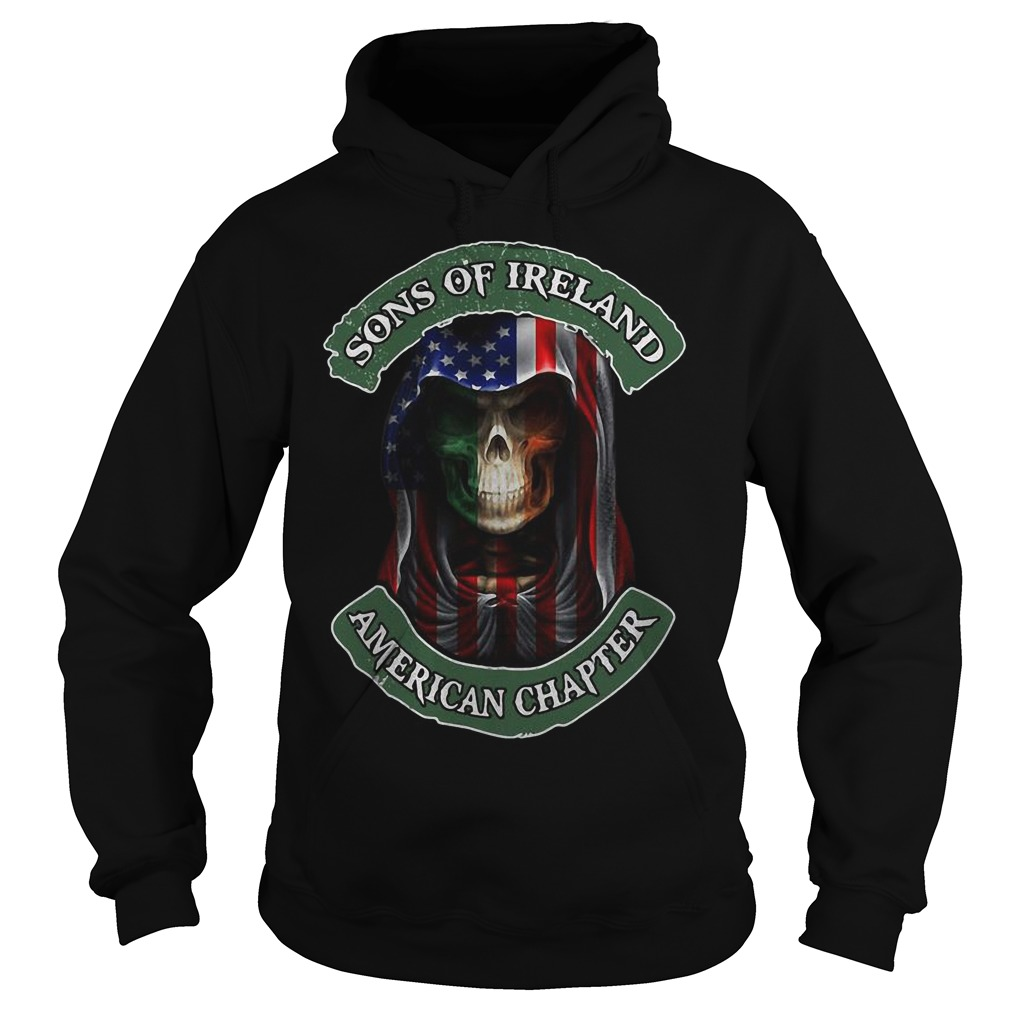 Skull Sons Of Ireland American Chapter Hoodie