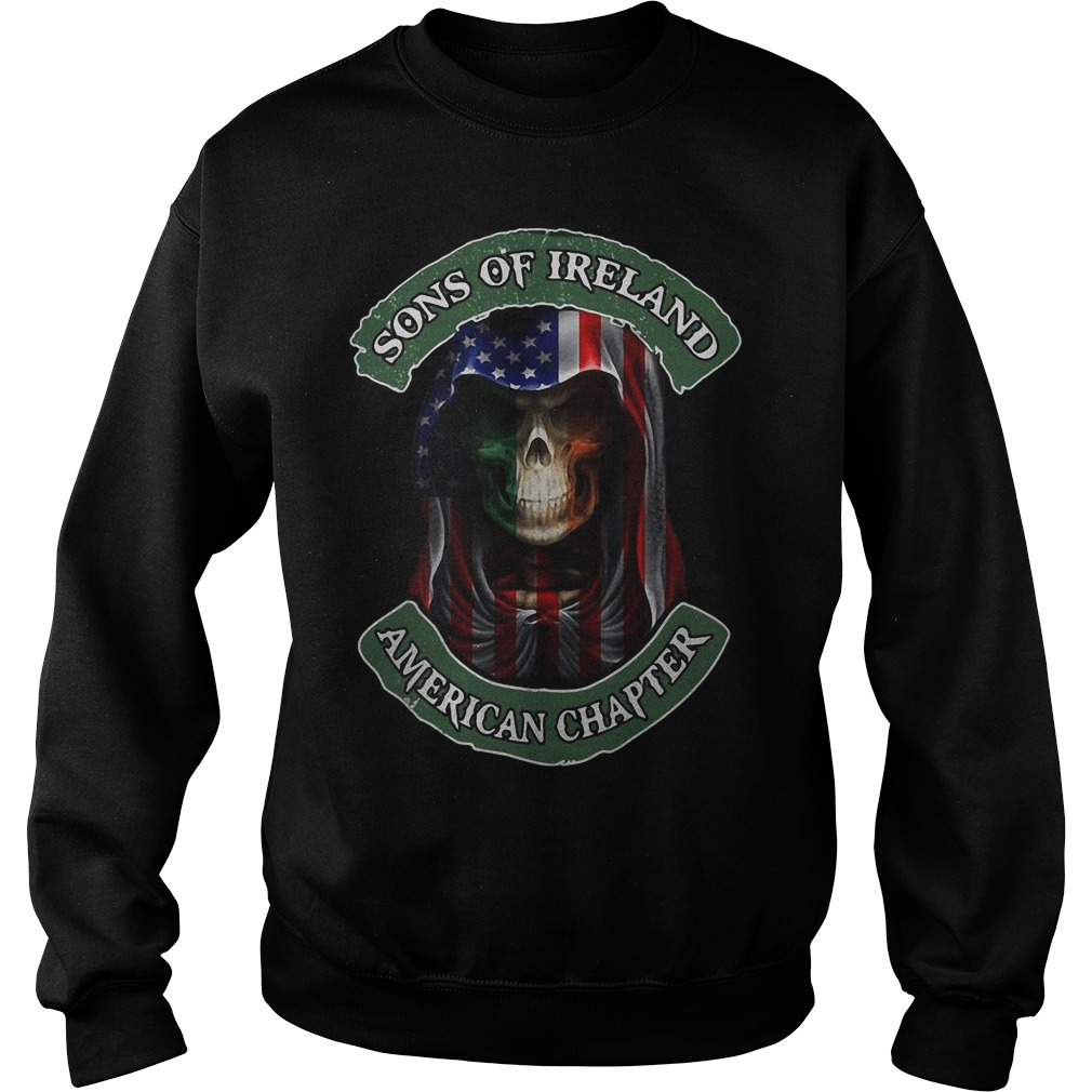 Skull Sons Of Ireland American Chapter Sweater