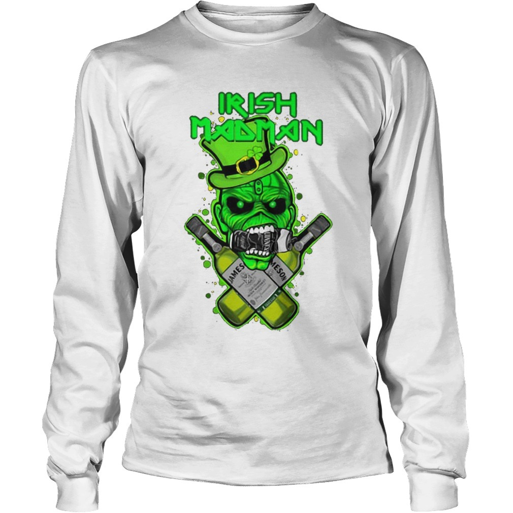 St Patrick's Day Irish Madman Jameson Kid Longsleeve Tee