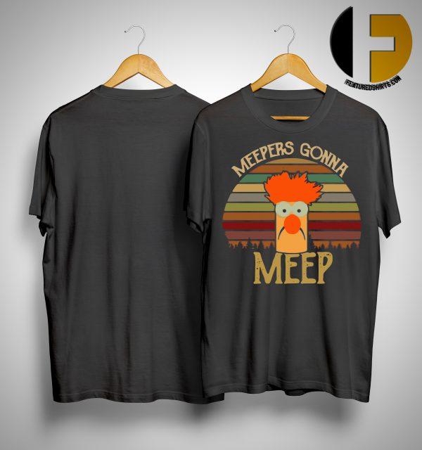 The Muppet Show Beaker Meepers Gonna Meep Sunset Shirt