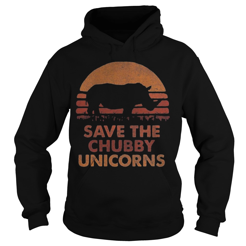 The Sunset Save The Chubby Unicorn Hoodie