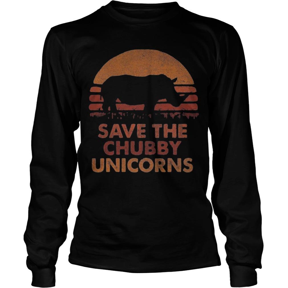The Sunset Save The Chubby Unicorn Longsleeve Tee