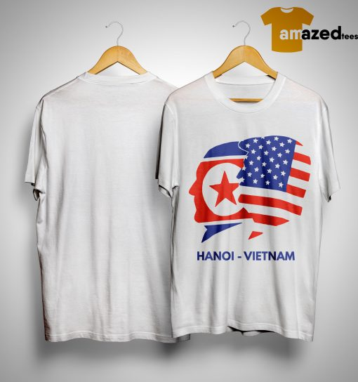 Trump Kim Summit American Flag Hanoi Vietnam Shirt