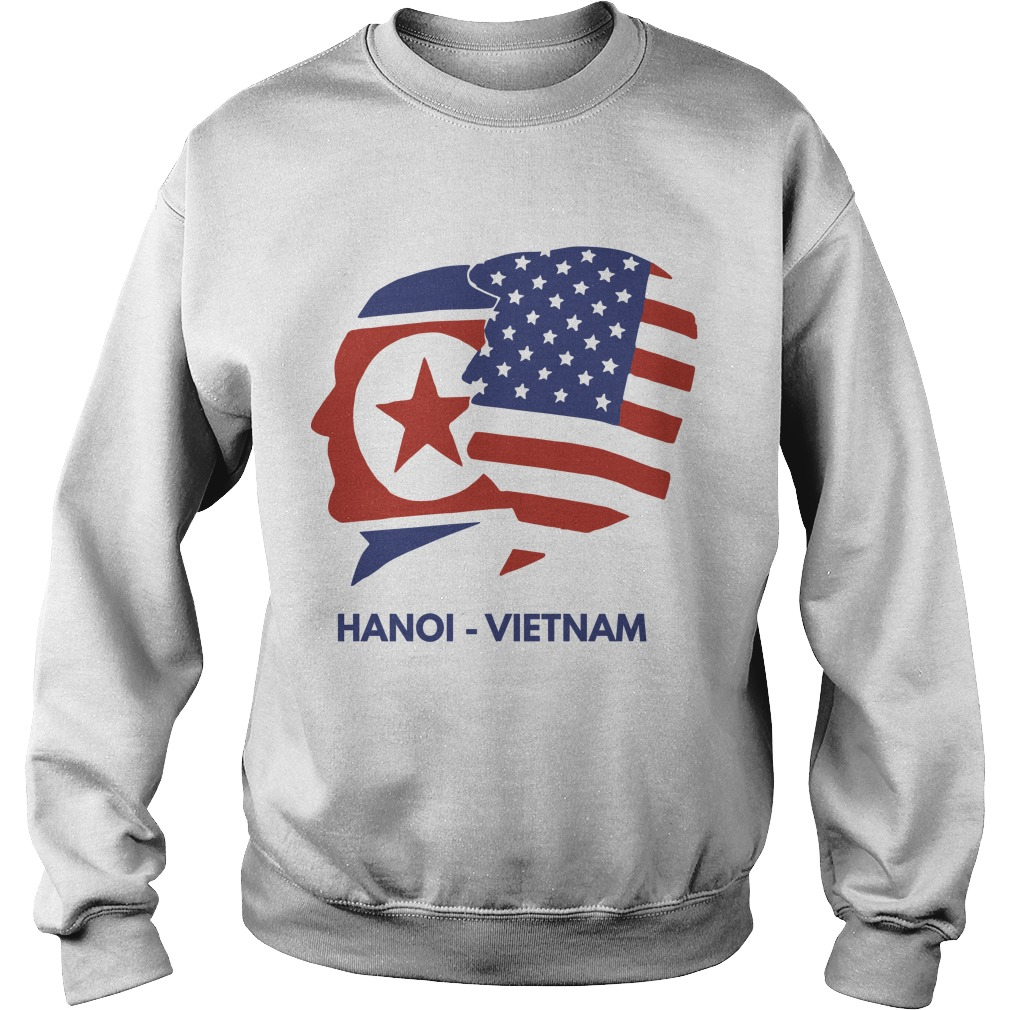 Trump Kim Summit American Flag Hanoi Vietnam Sweater
