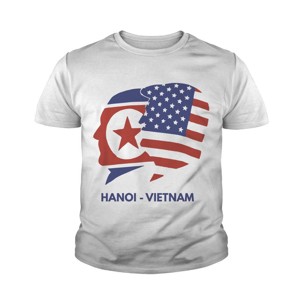 Trump Kim Summit American Flag Hanoi Vietnam Youth Tee