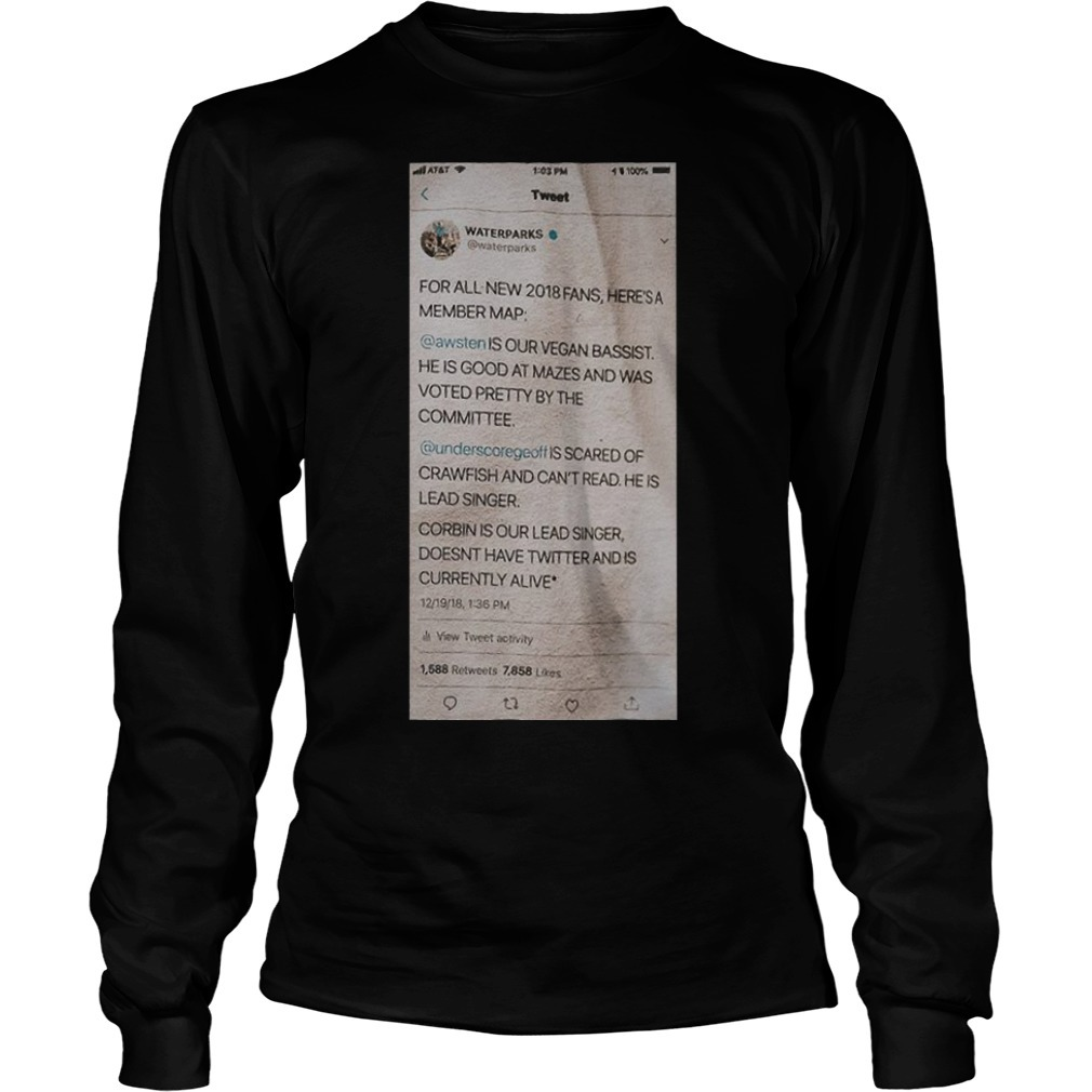 Waterparks Twitter Status A Tour Long Sleeve Tee