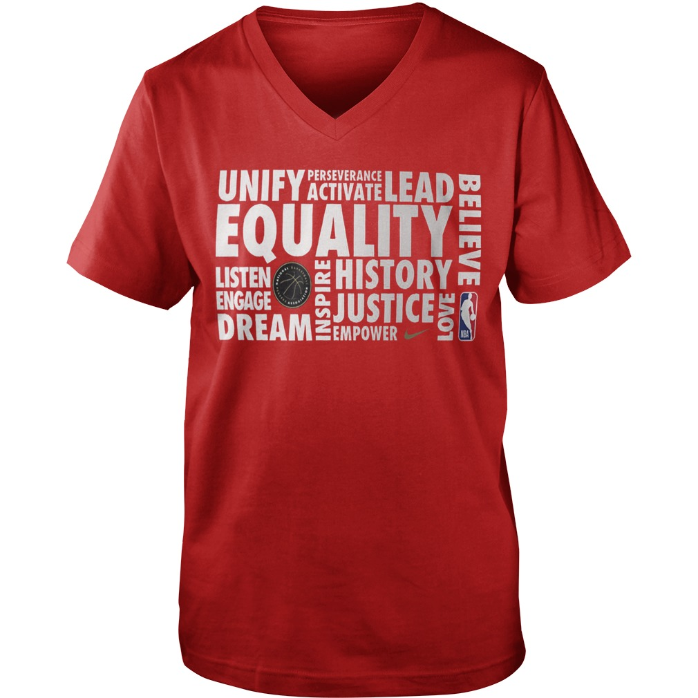 Nba Equality Guys V-neck Shirt 2019