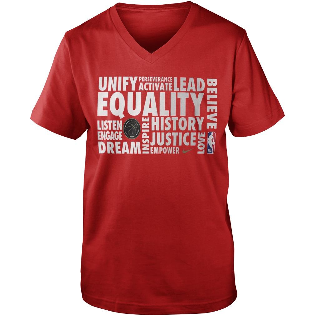 Nba Equality Guys V-neck Shirt 2019