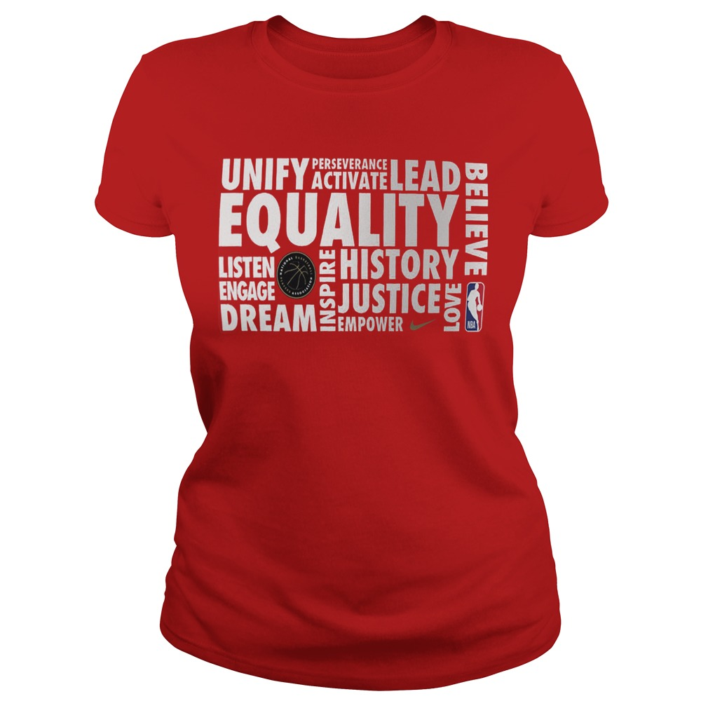 Nba Equality Ladies Shirt 2019