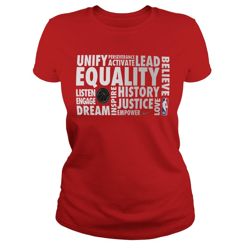 Nba Equality Ladies Shirt 2019