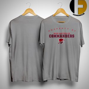 Property Of San Antonio Commanders Shirt