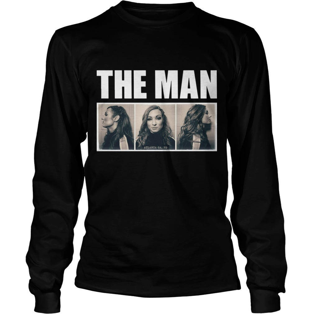 Becky Lynch The Man Mugshot Longsleeve Tee