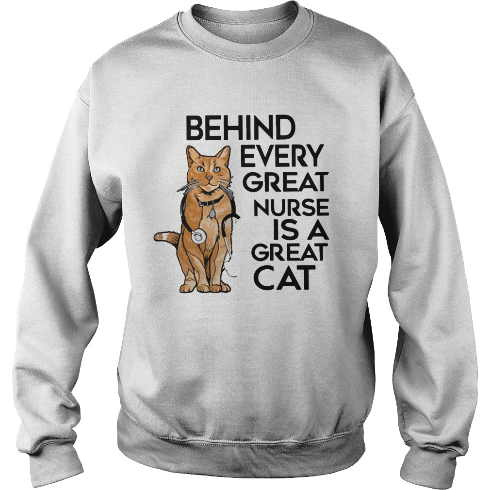 Behind Every Great Nurse Is A Great Cat Sweater