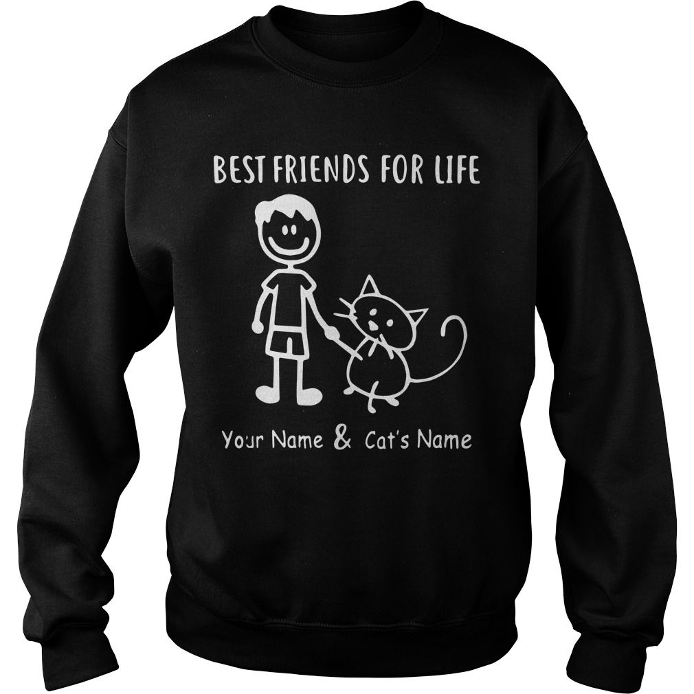 Best Friends For Life Your Name And Cat's Name Sweater