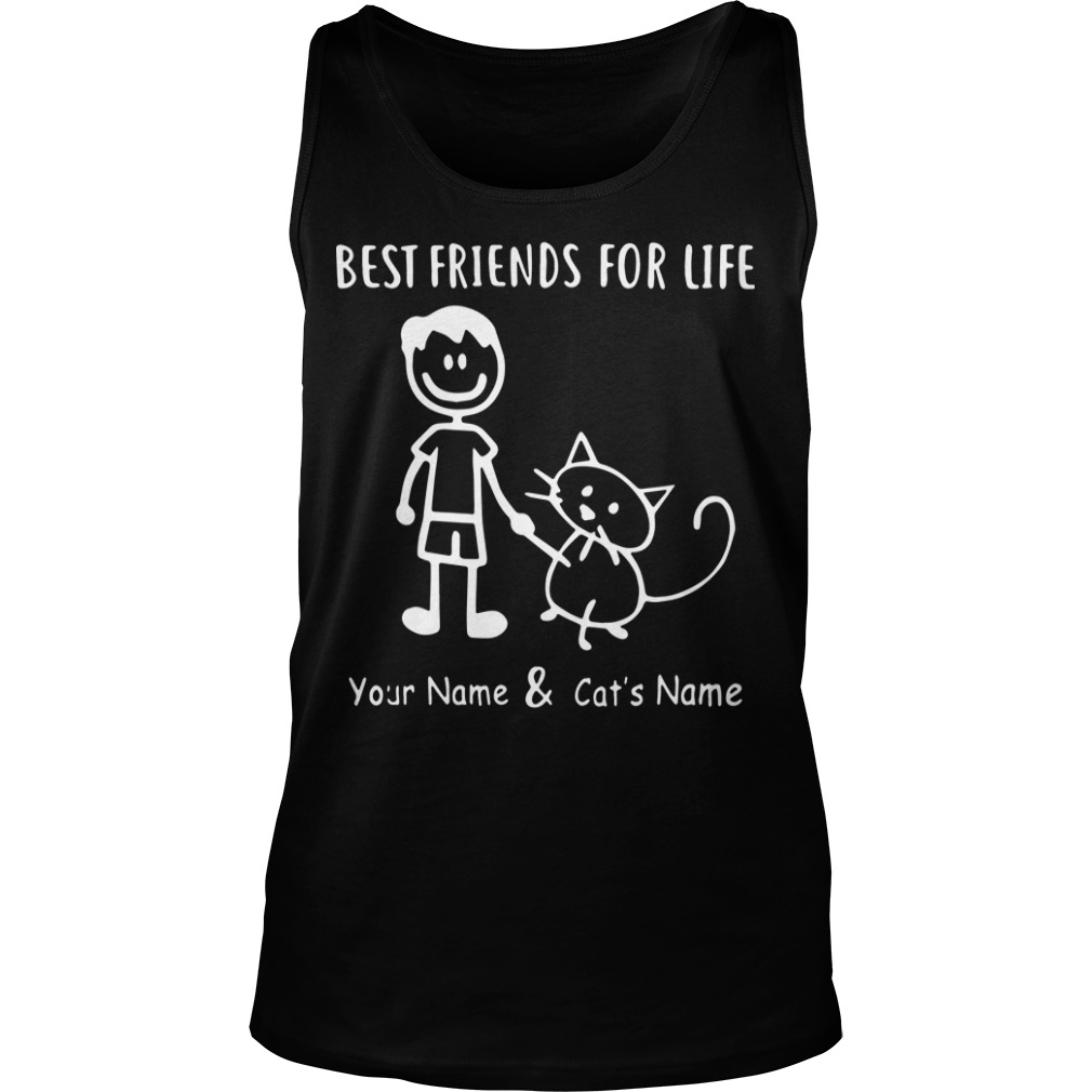 Best Friends For Life Your Name And Cat's Name Tank Top