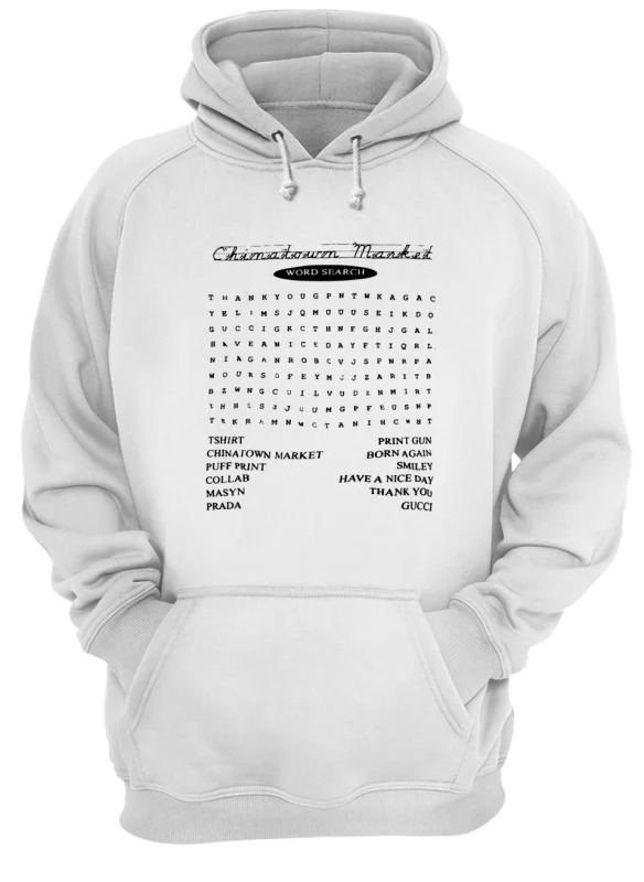 Blazzy Word Search China Town Market Hoodie