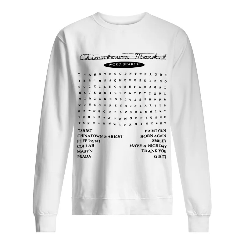 Blazzy Word Search China Town Market Sweater