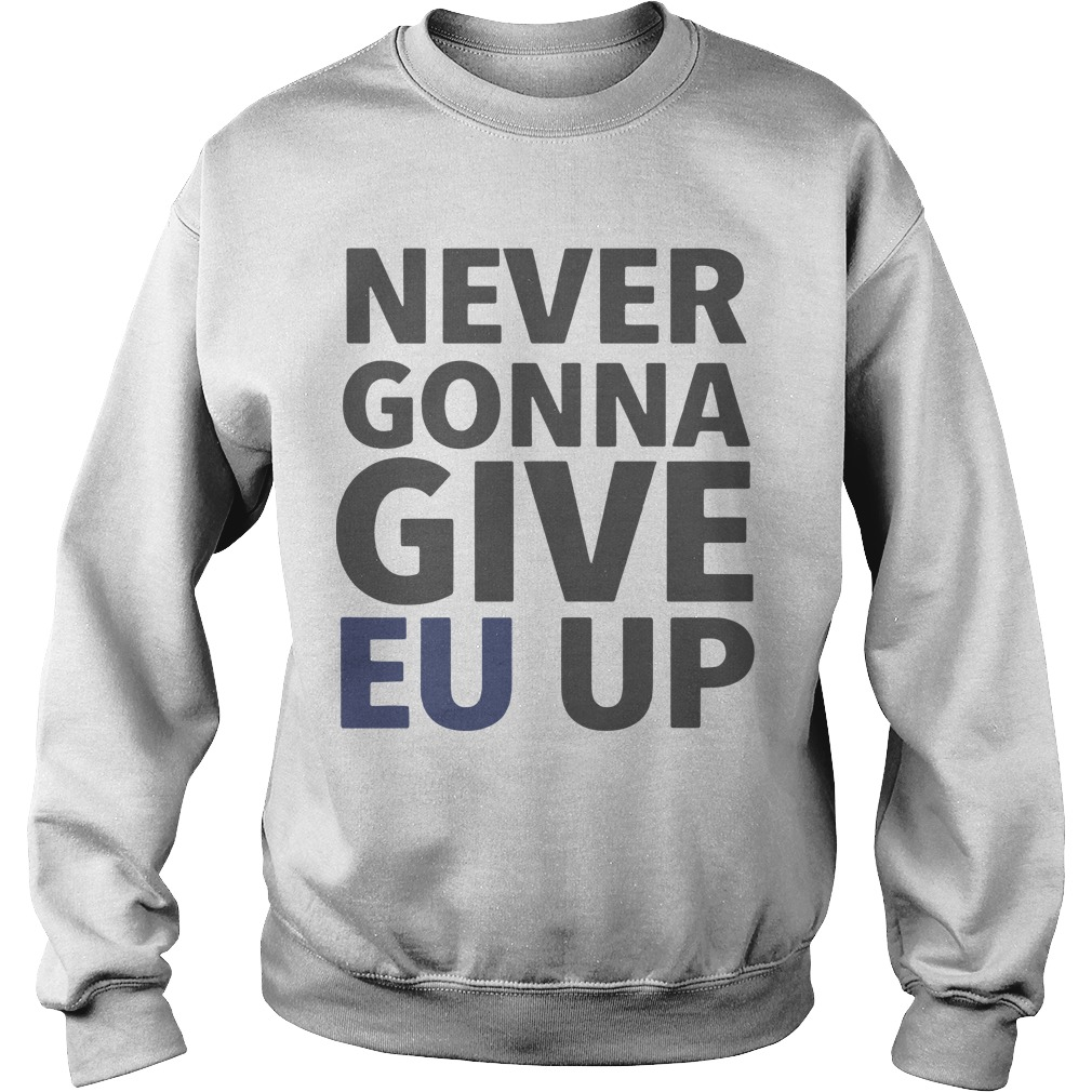 Brexit March London Never Gonna Give EU Up Sweater