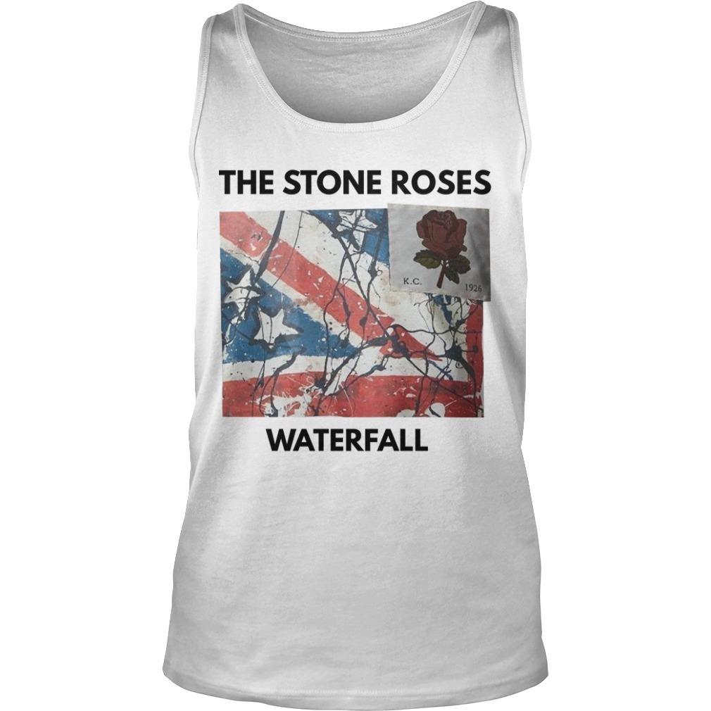 David Beckham Stone Roses Waterfall Tank Top