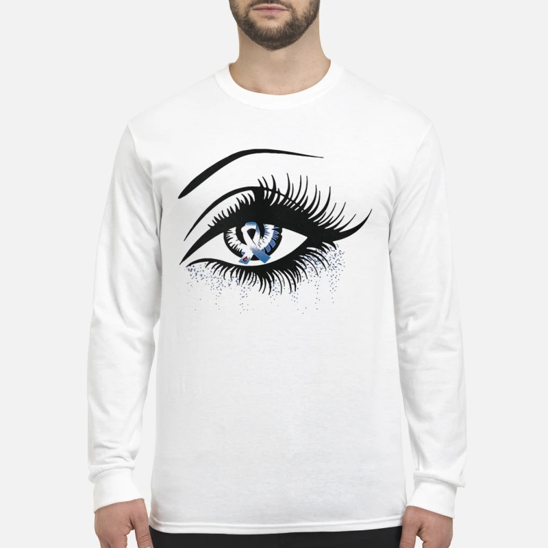 Diabetes And Cancer Awareness In The Eye Longsleeve Teev