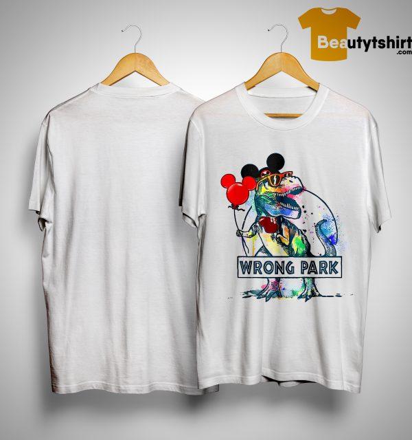 Dinosaur Mickey Hat Wrong Park Shirt