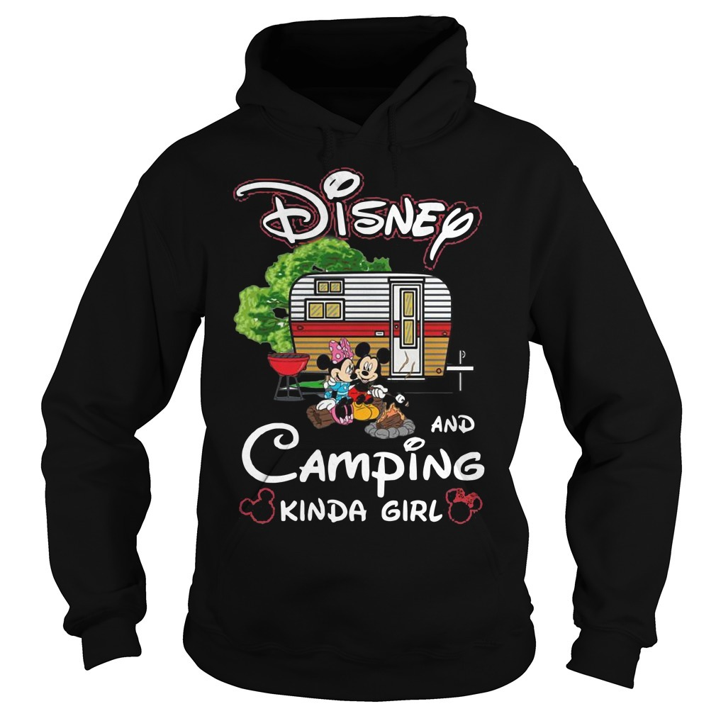 Disney And Camping Kinda Girl Hoodie