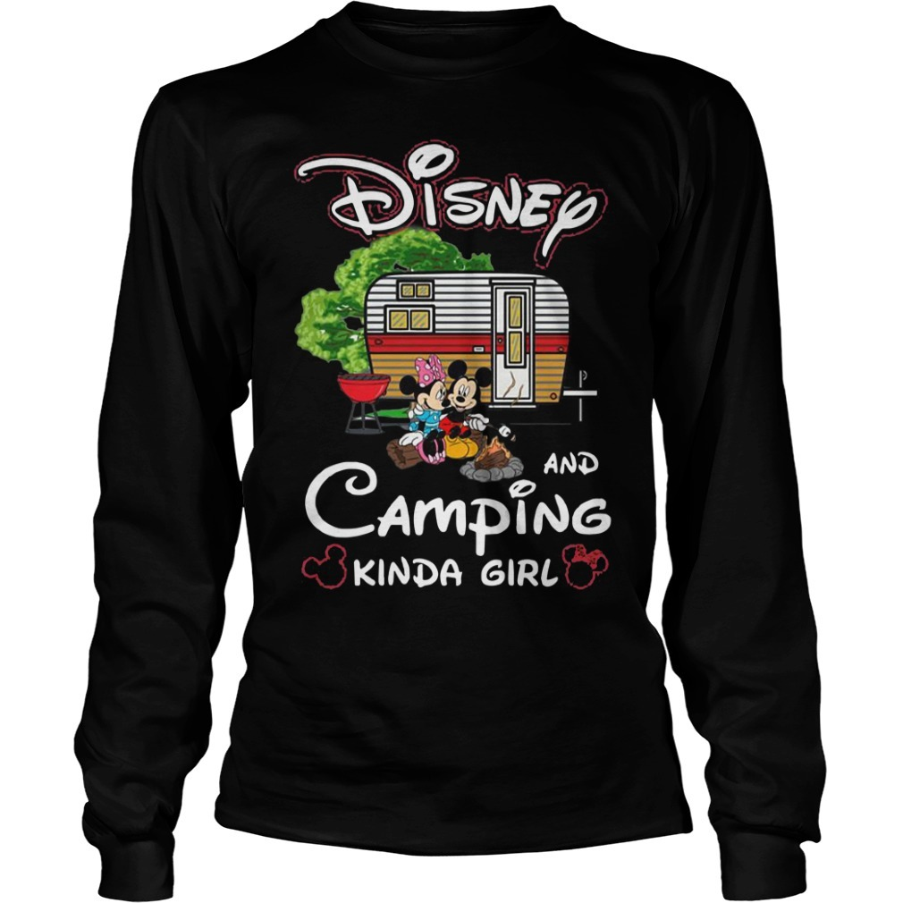 Disney And Camping Kinda Girl Longsleeve Tee