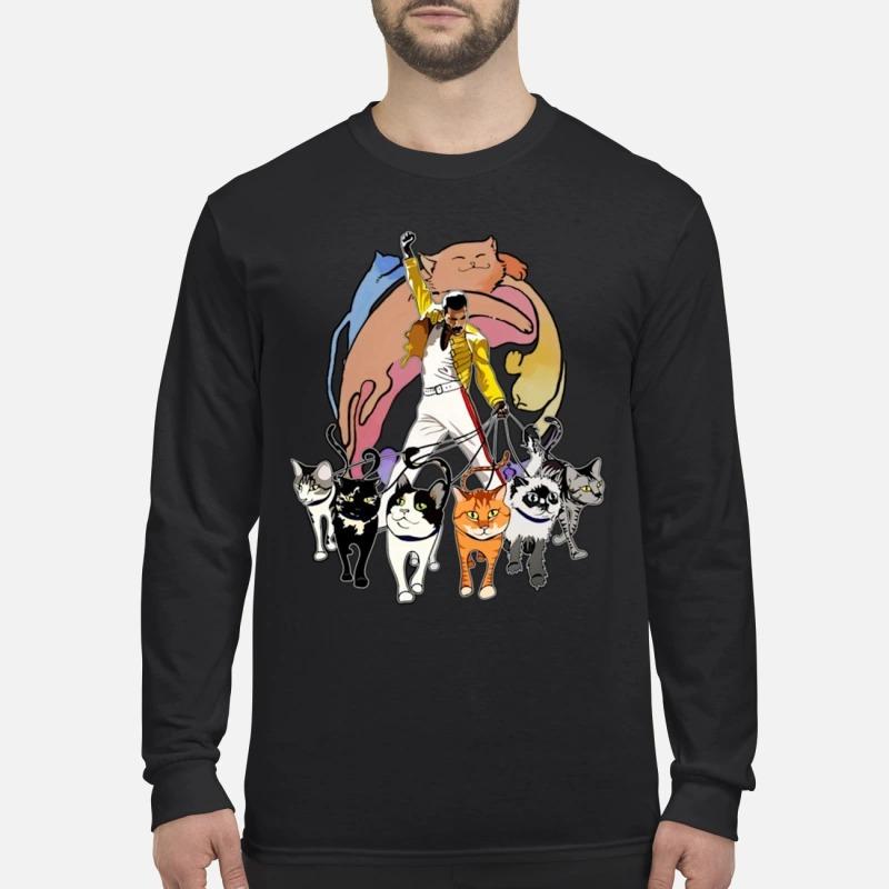 Freddie Mercury And His Cats Longsleeve Tee