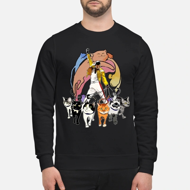 Freddie Mercury And His Cats Sweater