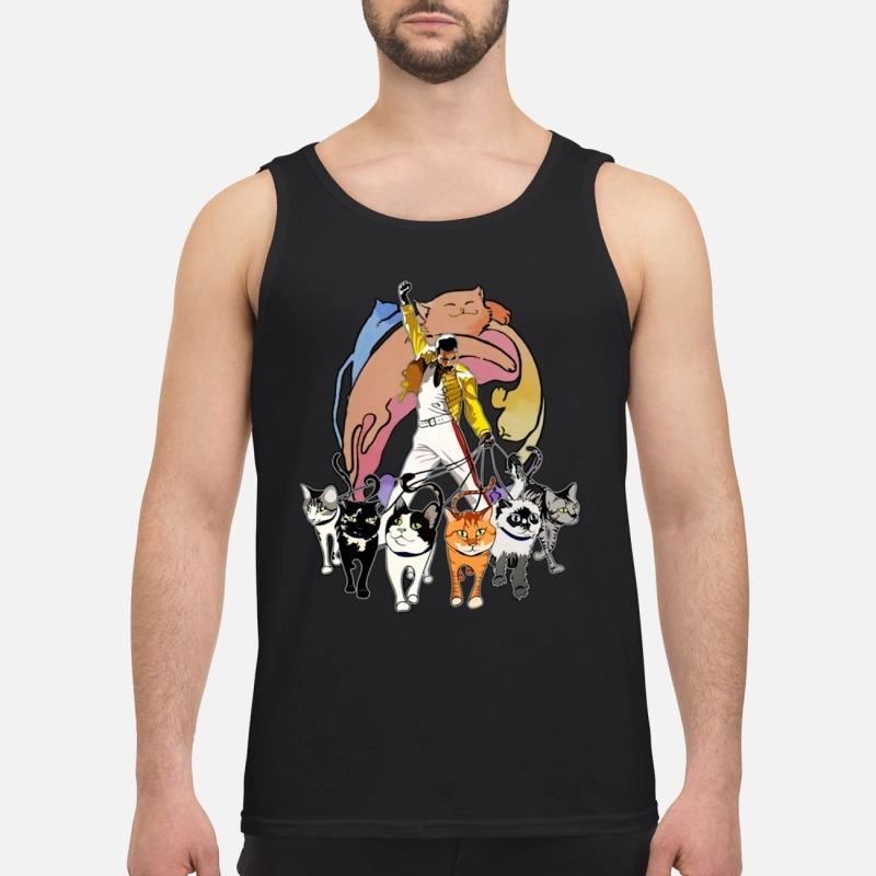 Freddie Mercury And His Cats Tank Top