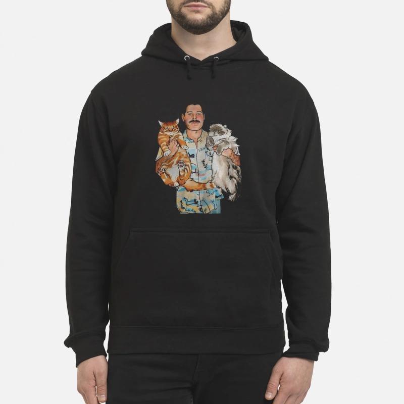 Freddie Mercury Hug Cats Hoodie