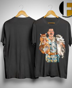 Freddie Mercury Hug Cats Shirt