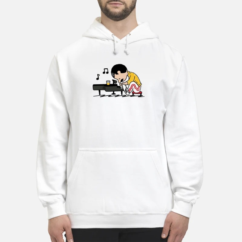 Freddie Mercury In The Style Of Peanuts Hoodie