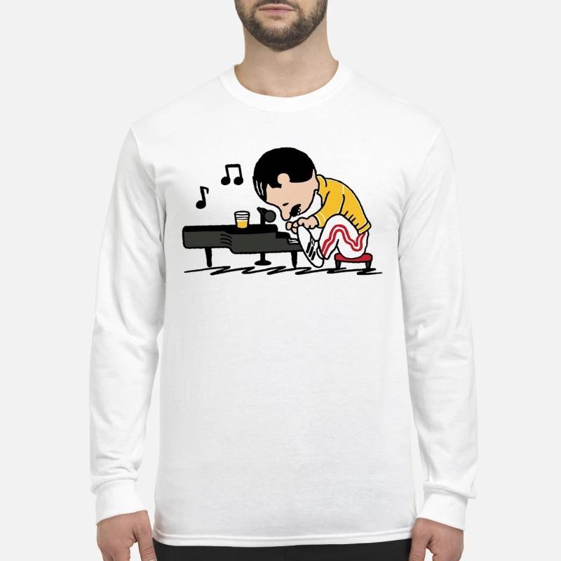 Freddie Mercury Playing Piano Longsleeve Tee