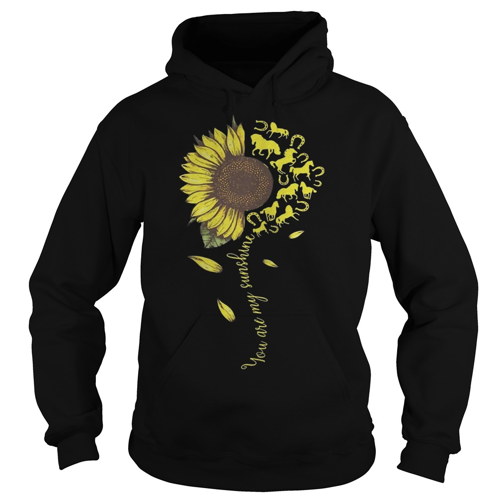 Horse Sunflower You Are My Sunshine Hoodie
